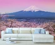 Plum Blossom Mount Fuji Wall Mural