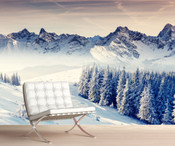 Mystic View of Mount Everest Wall Mural