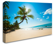 Caribbean Tropical Palm Trees Wall Art Canvas 8998-1001