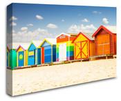 Colourful Beach House Huts Wall Art Canvas 8998-1005