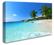 Tropical Sky Blue Beach Wall Art Canvas 8998-1007