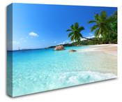 Tropical Sky Blue Beach Wall Art Canvas 8998-1007