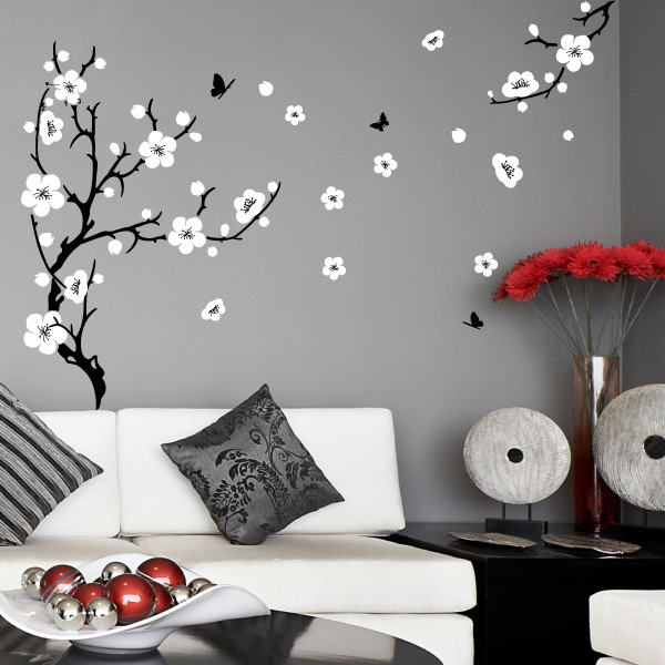 43d0dc1d777 Large Plum Blossom Wall Sticker 8904 - Stickers Wall