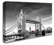 London Tower Bridge Red Bus Wall Art Canvas 8998-1037