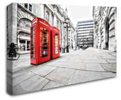 London Red Telephone Box Wall Art Canvas 8998-1038