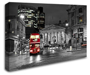 London City Red Bus Wall Art Canvas 8998-1039