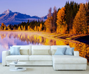 Autumn Mountain Forest Wall Mural