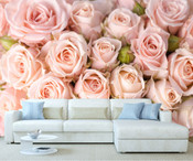 Flower Rose Pink Wall Mural