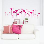 heart stick wall stickers