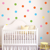 Polka Dot Wall Stickers (17 x 100mm) 8927355