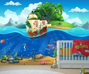 Pirate Ship Wall Mural 8999-1128