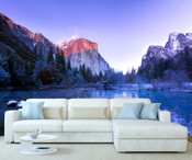 Snow Mountain Lake View Wall Mural 8999-1159