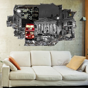 3D Broken Wall London Wall Stickers 5302-1039