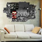 3D Broken Wall London Wall Stickers 5302-1039