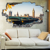 3D Broken Wall London Wall Stickers 5302-1045