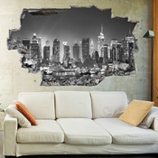 3D Broken Wall New York Wall Stickers 5302-1046