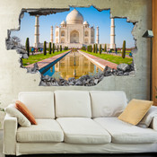 3D Broken Wall Taj Mahal Wall Stickers 5302-1059