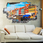 3D Broken Wall Copenhagan Wall Stickers 5302-1060