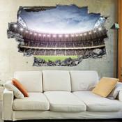 3D Broken Wall Football Stadium Wall Stickers 5302-1063
