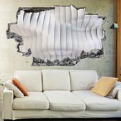 3D Broken Wall Effect Wave Wall Stickers 5302-1075