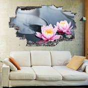 3D Broken Wall Flower Wall Stickers 5302-1079