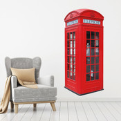 British Phone Box Wall Stickers 9101