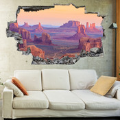 3D Broken Wall Canyon Wall Stickers 5302-1092