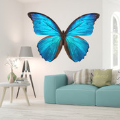Blue Butterfly Wall Stickers 9108A