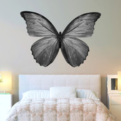 Black & White Butterfly Wall Stickers 9108B