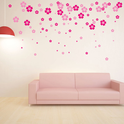 40 x small flower wall stickers 8913 stickers wall flower wall stickers mightylinksfo