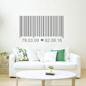 barcode wall sticker