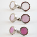 UV risk detector cufflinks changes color according to the sun's UV strength