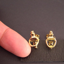 "Knock Knock Who's There?  Functioning Tiny Door Knockers Earrings make a tiny ""knock"""