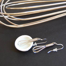 Working whisk earrings on sterling earwires are fully funcitonal!