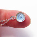 Mini Blue Round Level Necklace