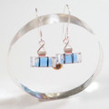 Mini Blue Level Earrings