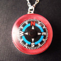 Pink Compass Necklace