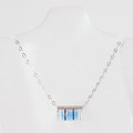 Mini Blue Level Necklace