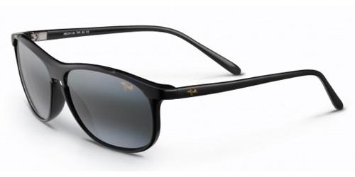 9b5e1b5fdc15 MAUI JIM VOYAGER Sunglasses (178-02) Gloss Blk 60-15-135. Image 1. Loading  zoom