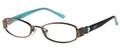 CANDIES C BEAU Eyeglasses Satin Br 45-17-130