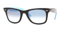 Ray Ban RB 2140 Sunglasses 10013F Blk Azure 50-22-150