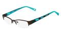 MARCHON M-MAGNOLIA Eyeglasses 210 Satin Br 48-17-135