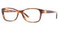 VERSACE VE 3184 Eyeglasses 163 Striped Havana 52-16-140