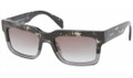 PRADA PR 01QS Sunglasses DG70A7 Spotted Blk On Grey 52-19-140