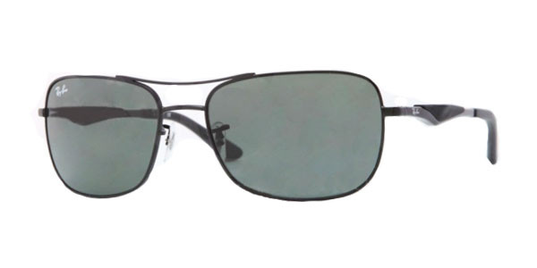 e628fa29b1f Ray Ban RB 3515 Sunglasses 006 71 Matte Blk 61-17-145. Image 1. Loading zoom
