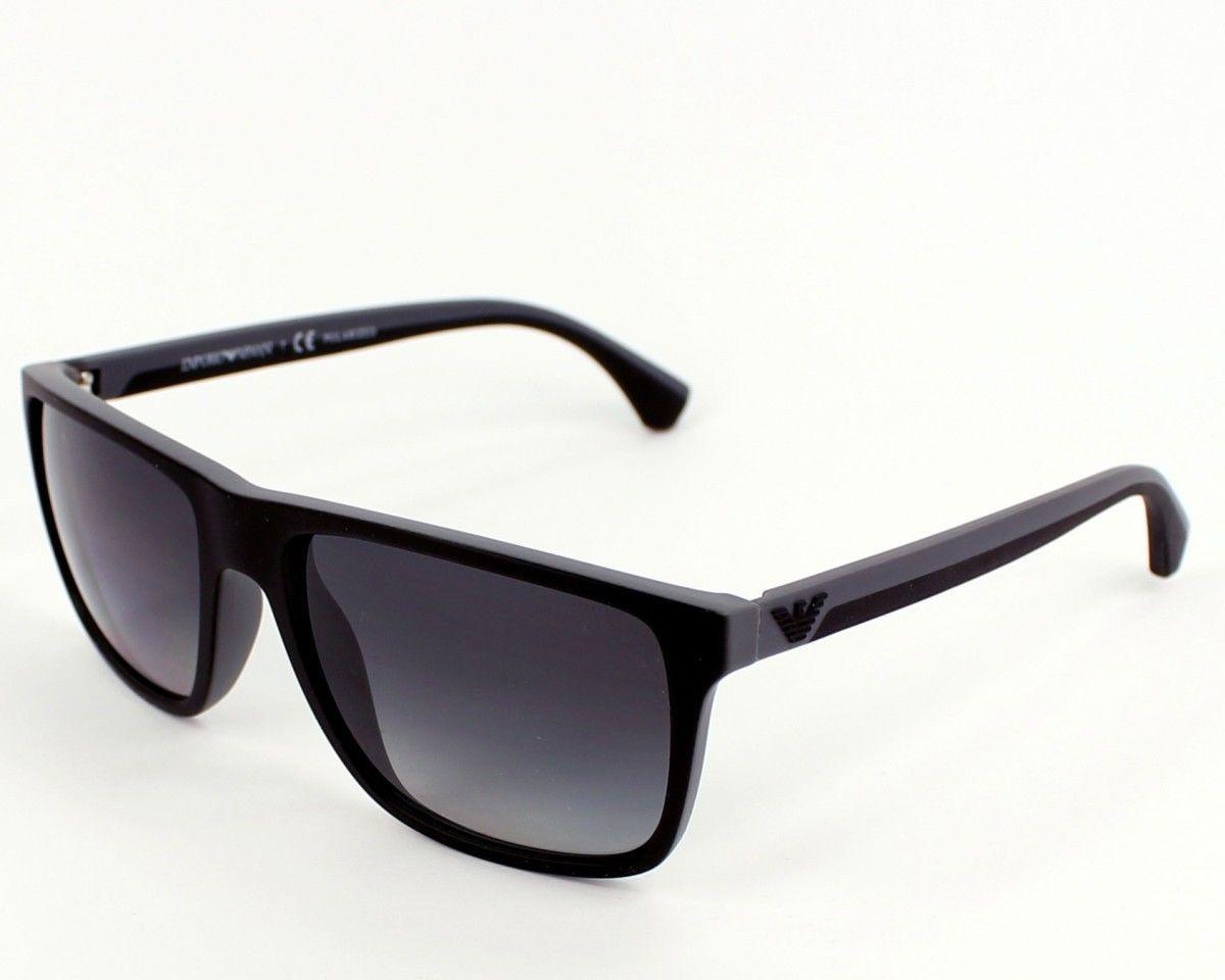 d3aa94894f2 EMPORIO ARMANI EA 4033 Sunglasses 5229T3 Blk Grey Rubber 56-17-140. Image  1. Loading zoom