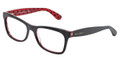 Dolce & Gabbana Eyeglasses DG 3199 2871 Black Red 55-17-140