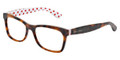 Dolce & Gabbana Eyeglasses DG 3199 2872 Havana Red White 55-17-140