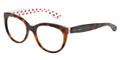 Dolce & Gabbana Eyeglasses DG 3201 2872 Havana Red White 51-18-140