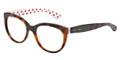 Dolce & Gabbana Eyeglasses DG 3201 2872 Havana Red White 53-18-140